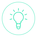 illuminated lightbulb icon