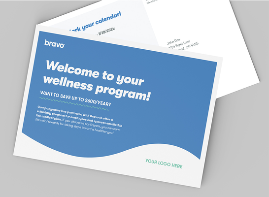 Bravo Wellness Multi Channel Communications Example Postcard