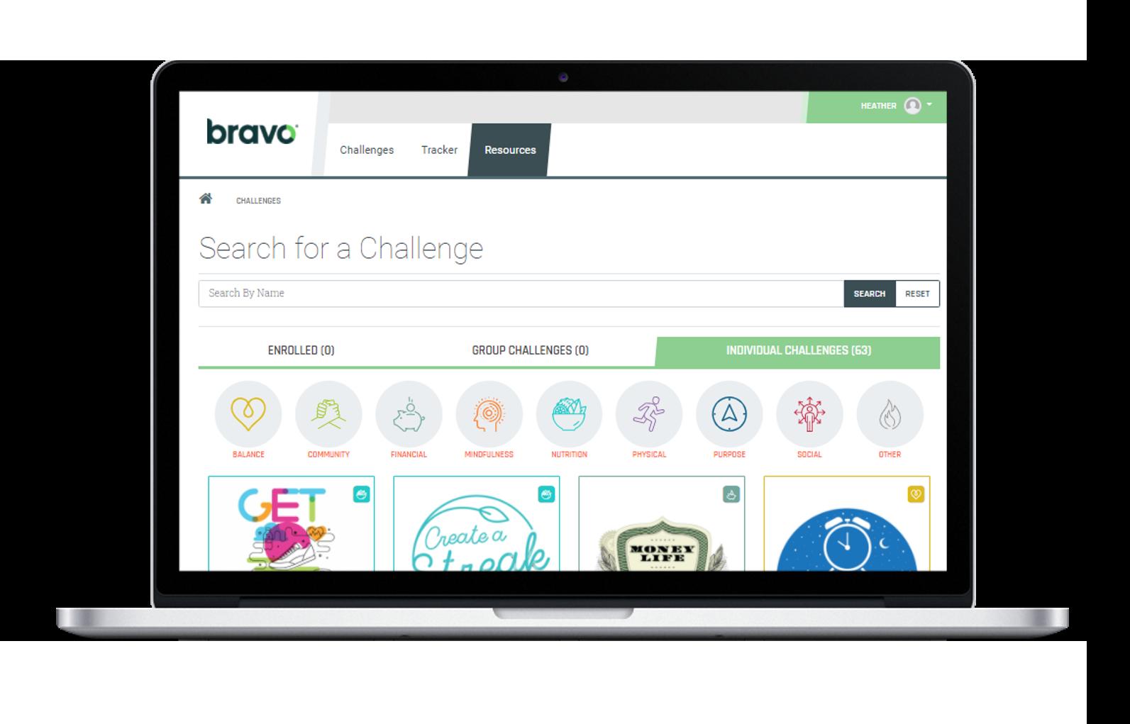 Bravo Wellness Portal Wellness Challenges
