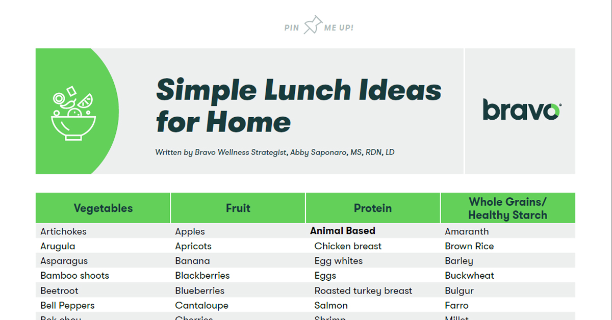 simple lunch ideas for home